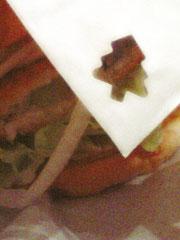 ハンバーガーの包み紙の画像