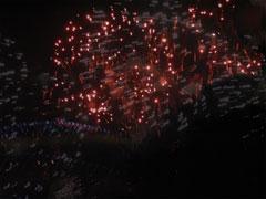 新年の花火の画像