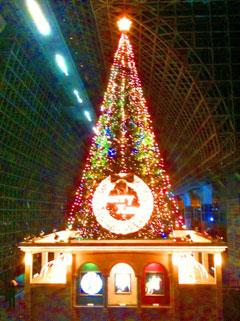 京都駅のクリスマスツリーの画像