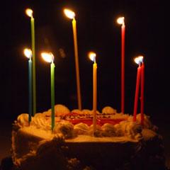 バースデーケーキの画像