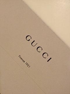 Gucci からのお礼状の写真